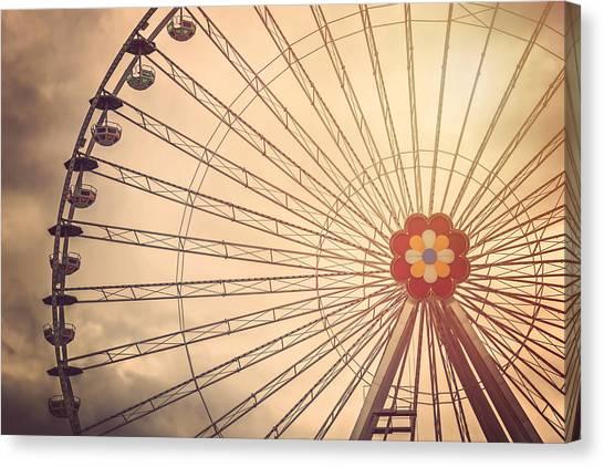 Carousel Canvas Print - Ferris Wheel Prater Park Vienna by Carol Japp