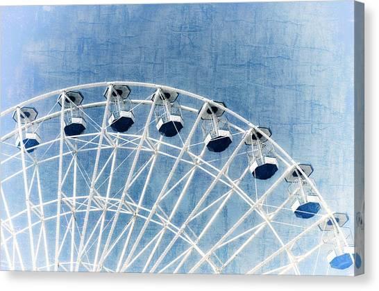 Wonder Wheel Series 1 Blue Canvas Print