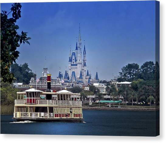 Prince Canvas Print - Ferry Boat Magic Kingdom Walt Disney World Mp by Thomas Woolworth