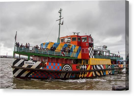Ferry Cross The Mersey - Razzle Boat Snowdrop Canvas Print