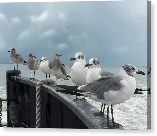 Ferry Passengers Canvas Print