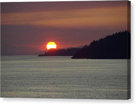 Ferry Sunset Canvas Print