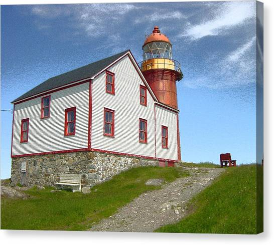 Ferryland Lighthouse Canvas Print by Lorry Heverly