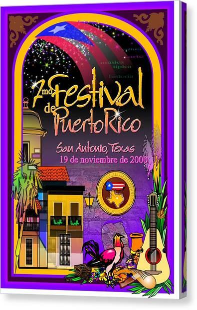 Festival De Puerto Rico Canvas Print by William R Clegg