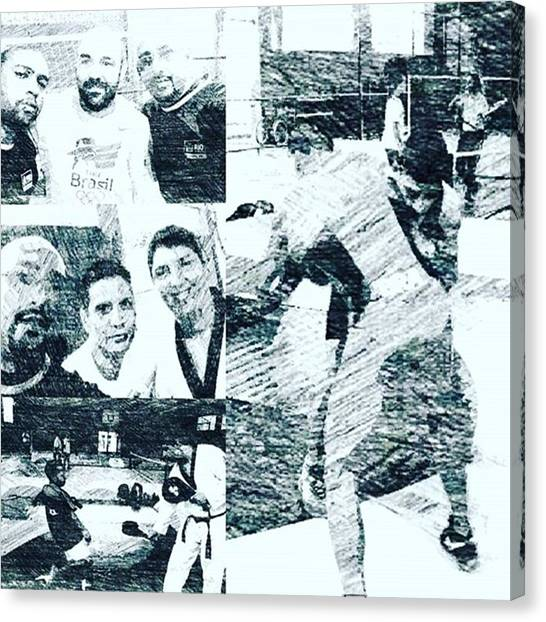 Taekwondo Canvas Print - Festival Olímpico E Paralimpico No by Vagner Roberto De Lima