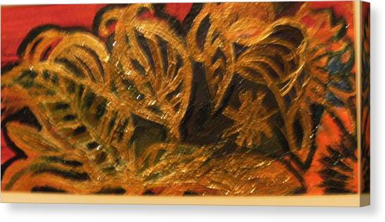 Festive Foliage Canvas Print by Anne-Elizabeth Whiteway