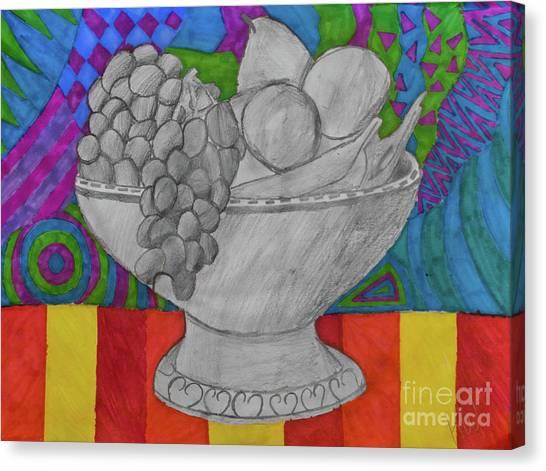 Fineart Canvas Print - Festive Fruit Bowl by Karlie White