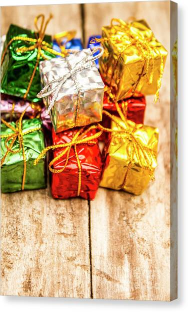 Presents Canvas Print - Festive Greeting Gifts by Jorgo Photography - Wall Art Gallery