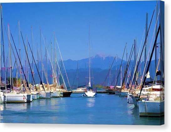 Fethiye Harbour Canvas Print