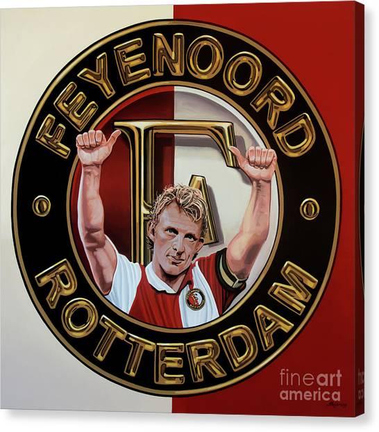 Soccer Teams Canvas Print - Feyenoord Rotterdam Painting by Paul Meijering