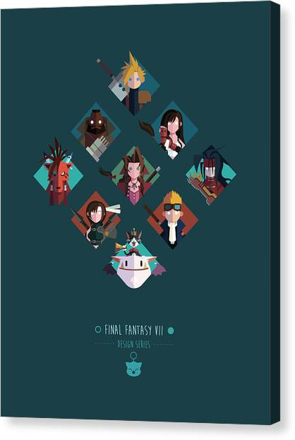 Final Fantasy Canvas Print - Ff Design Series by Michael Myers