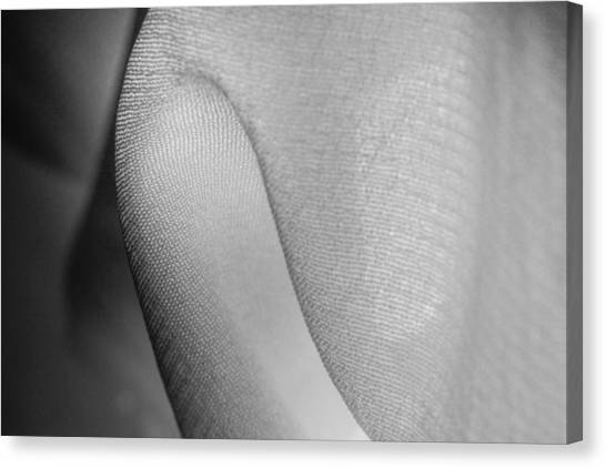 Canvas Print featuring the photograph Fiber Twists In Black And White by Yogendra Joshi
