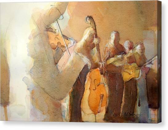 Bluegrass Canvas Print - Fiddle Break by Robert Yonke