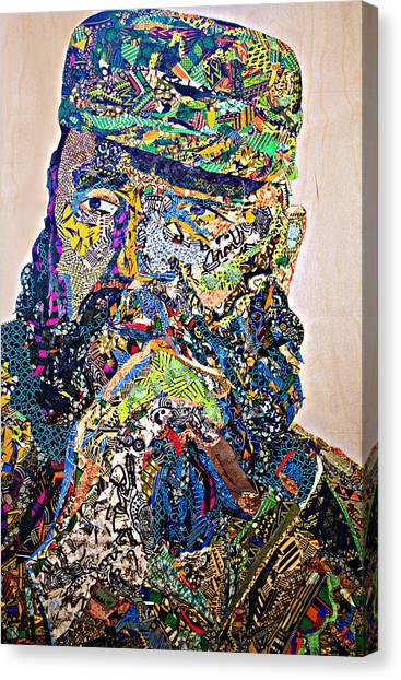 Fidel El Comandante Complejo Canvas Print