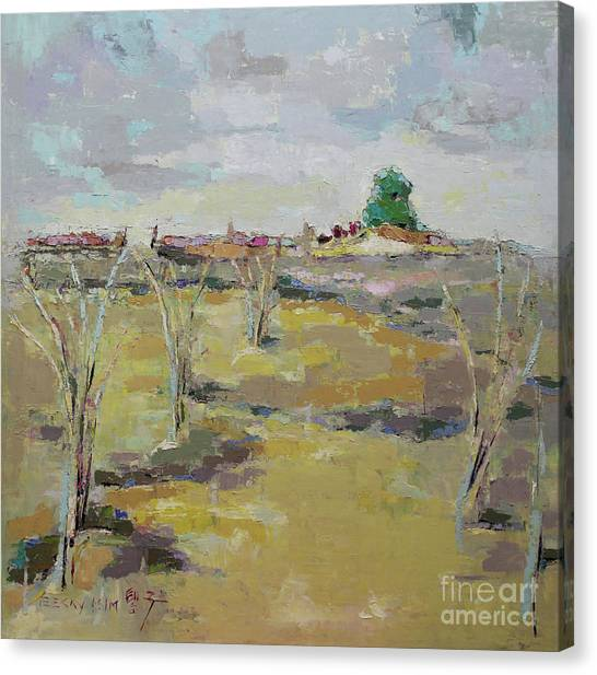 Canvas Print - Field In Virginia by Becky Kim