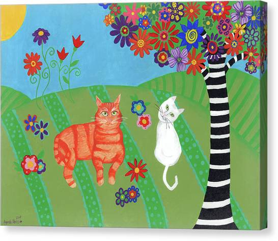 Field Of Cats And Dreams Canvas Print