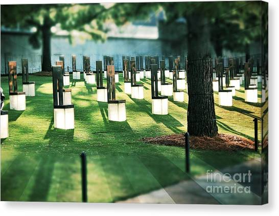 Field Of Empty Chairs Canvas Print