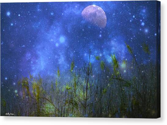 Field Of Fireflies Canvas Print by Molly Dean