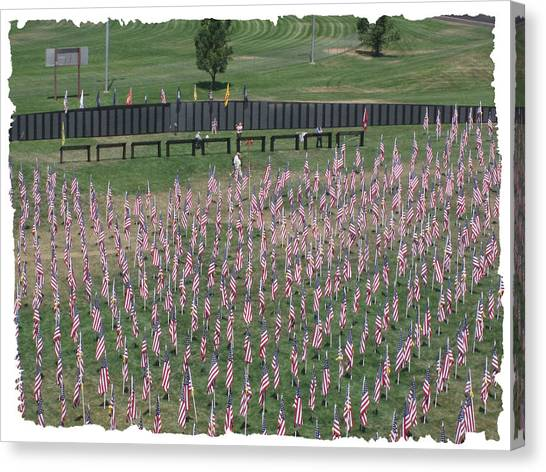 Field Of Flags - Gotg Arial Canvas Print