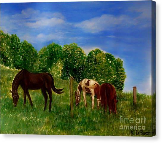 Field Of Horses' Dreams Canvas Print