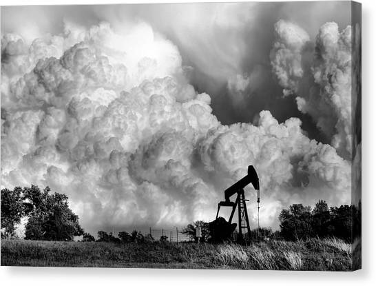 Tornadoes Canvas Print - Field Of Nightmares  by Karen Scovill
