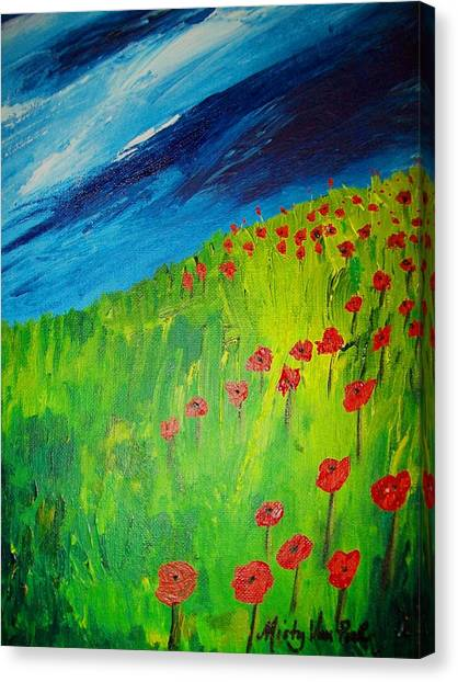 field of Poppies 2 Canvas Print by Misty VanPool