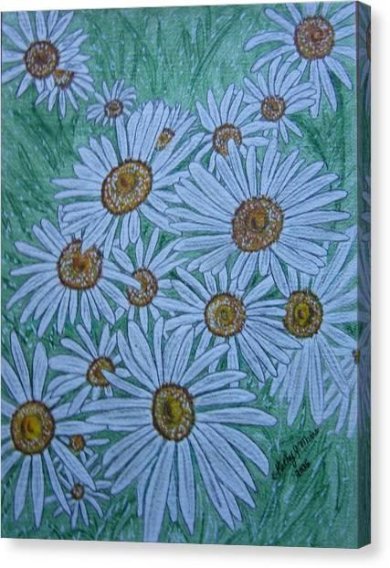 Field Of Wild Daisies Canvas Print