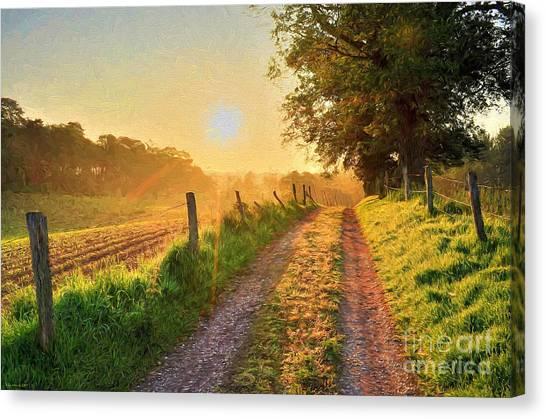Painterly Canvas Print - Field Road by Veikko Suikkanen