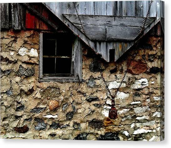 Field Stone Barn Canvas Print