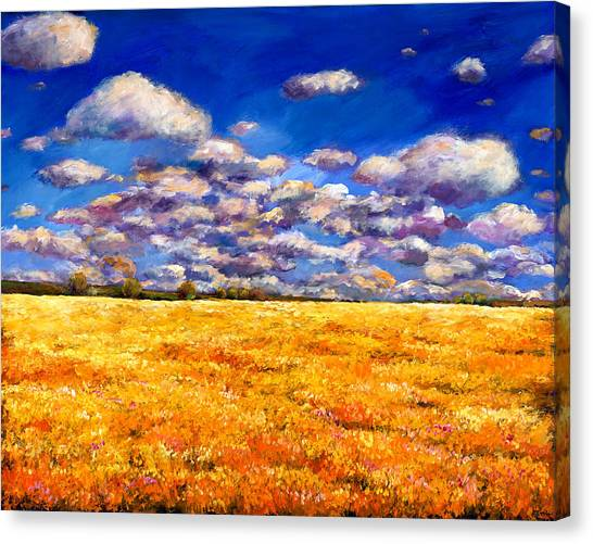 Wildflowers Canvas Print - Fields Of Gold by Johnathan Harris