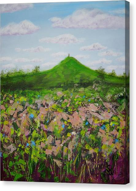 Fields To Glastonbury Tor Canvas Print