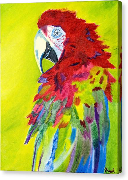Fiery Feathers Canvas Print