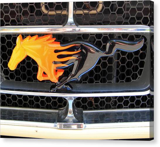 Fiery Mustang Canvas Print