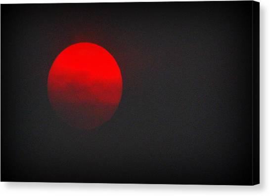 Canvas Print featuring the photograph Fiery Sun by AJ Schibig