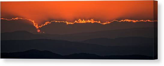 Fiery Sunset In The Luberon Canvas Print