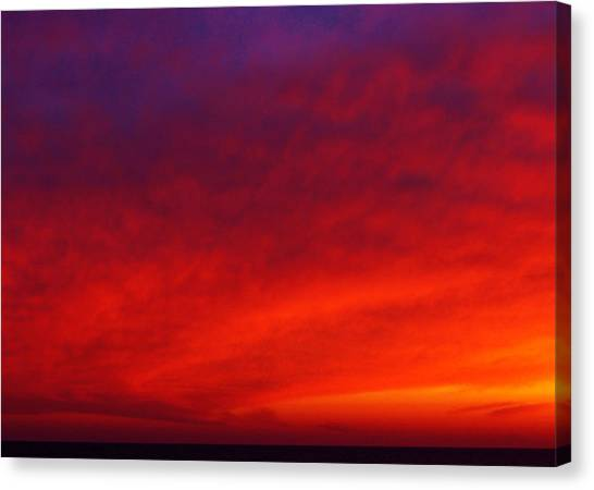 Fiery Vortex Canvas Print