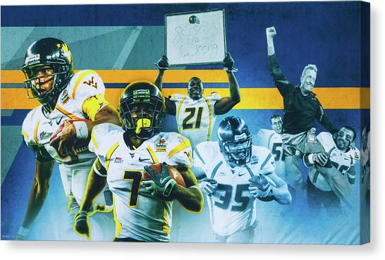 West Virginia University Wvu Canvas Print - Fiesta Bowl by Aaron Geraud