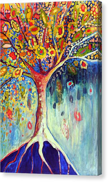 Orange Tree Canvas Print - Fiesta Tree by Jennifer Lommers