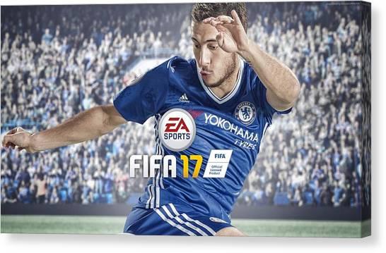 Eden Hazard Canvas Print - Fifa 17 by Emma Brown