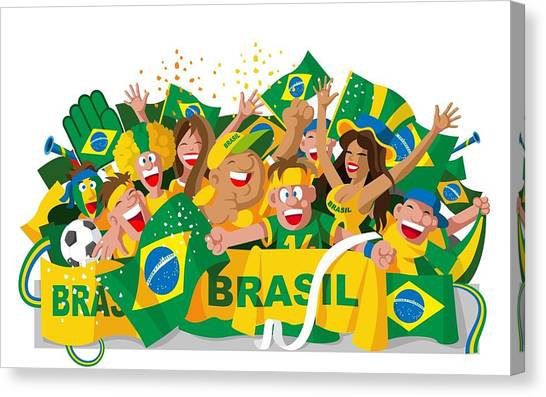 World Cup Canvas Print - Fifa World Cup Brazil 2014 by Maye Loeser