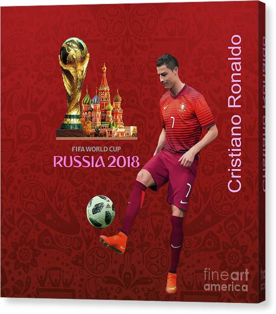 Lionel Messi Canvas Print - Fifa World Cup Russia 1 by Gull G
