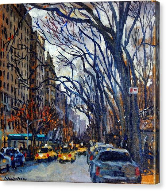 Fifth Avenue In November Canvas Print