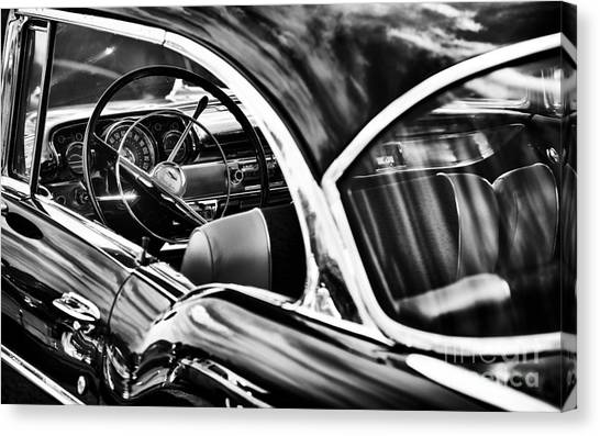 General Motors Automobiles Canvas Print - Fifties Chevrolet Bel Air by Tim Gainey
