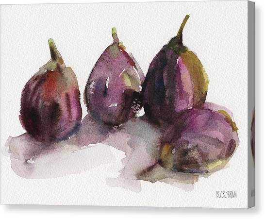 Fruits Canvas Print - Fig Season by Beverly Brown