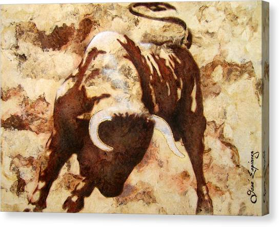 Fight Bull Canvas Print