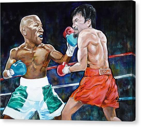 Floyd Mayweather Canvas Print - Fight Of The Century by Reuben Cheatem