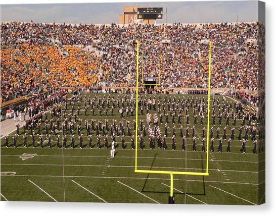 Marching Band Canvas Print - Fighting Irish Marching Band by David Bearden