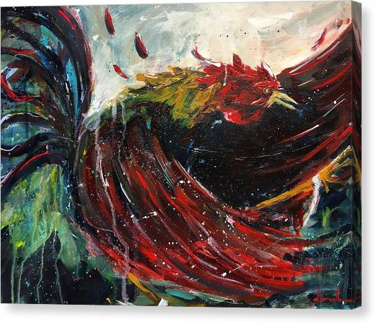 University Of South Carolina Canvas Print - Fighting Spirit by Dave Baysden