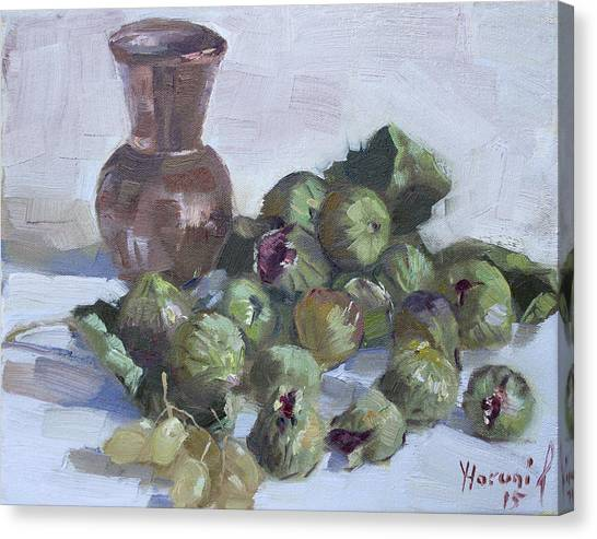 Greek Art Canvas Print - Figs by Ylli Haruni
