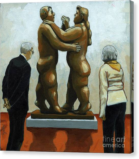 Figurative Art - Bottero Sculpture Canvas Print by Linda Apple